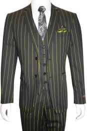 MO793 Mens Bold Gangster 1920s Vintage Gangster Bold Stripe
