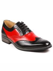 MO795 Mens Two Tone Wing Tip Lace up Oxford