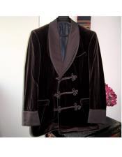 EK230 Mens Double Breasted Tuxedo Velvet Flap Front Pockets