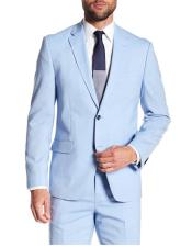 Mens Two Button Blue Notch