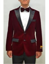 mens Blazer Burgundy