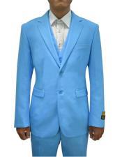 AlbertoNardonimensVested3PieceSuitTurquoise