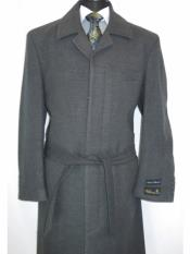 MO812 Alberto Nardoni Mens Belted Wool Overcoat Top coats