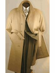 MO814 Alberto Nardoni Mens Belted Wool Overcoat Top coats