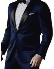 MO826 Mens James Bond Satin Shawl Lapel 1 Button