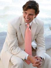 MO828 Mens Light Tan ~ Beige 2 Button Wedding