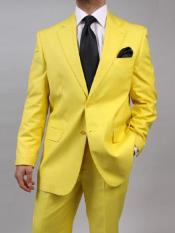 mens Two Button Yellow Suit