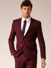 MO831 2 Button Style Suit Burgundy ~ Maroon ~