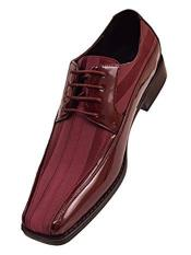 SR11 Mens  Cushion Insole Lace Up Style Burgundy