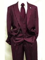 mens Burgundy ~ White Gangster