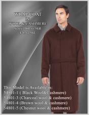 EK253 Mens Alberto Nardoni Brand Belted Full Length Overcoat