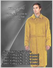 EK254 Mens Alberto Nardoni Brand Belted Full Length Overcoat