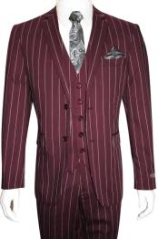 Product#MO844MensBoldGangster1920sVintageMaroon~White