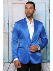 SR31 Mens Shiny Flashy Satin Solid Blazer ~ Sport