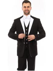 SR35 Mens 3 Piece  Single Breasted Slim Fit
