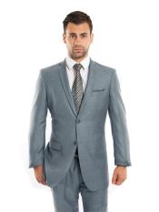 SR41 Mens  Single Breasted Slim Fit Notch Lapel