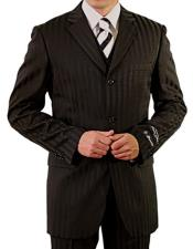 EK266 Mens Single Breasted Notch Lapel Three Button Vest