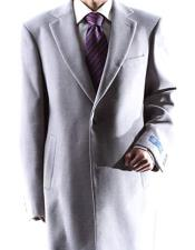 EK279 Mens Single Breasted Gray Two Button Notch lapel