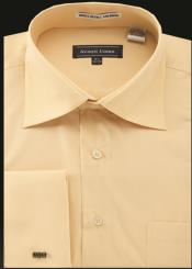 JA484 Mens Avanti Uomo French Cuff Shirt Corn