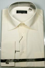 JA486 Mens Avanti Uomo French Cuff Shirt Ecru