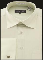 JA489 Mens Avanti Uomo French Cuff Shirt Sage
