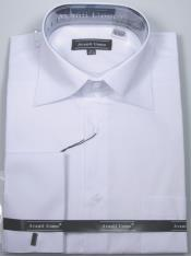 JA491 Mens Avanti Uomo French Cuff Shirt White