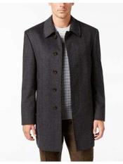 SR75 Mens Five  Button Single Breasted Herringbone Wool