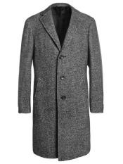 Mens Topcoat mens Single Breaste