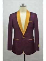 mensBlazer~SuitJacketBurgundy~Gold