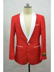 SR131  Mens Blazer  Red ~ White