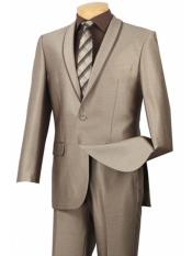 SR154 Mens Beige ~ Tan ~ Khaki 1 Button