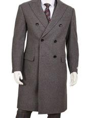 SR164 Mens Gray Double Breasted Five Button Wool ~
