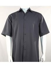 SR252   Mens Bassiri Button Down Short Sleeve