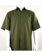 SR255   Mens Bassiri Button Down Short Sleeve