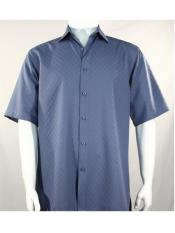 SR256   Mens Bassiri Button Down Short Sleeve