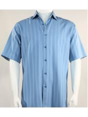 SR261   Mens Bassiri Button Down Short Sleeve