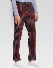 mens Slacks Red Ganagster Chalk