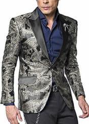 WTX-400 Alberto Nardoni Shiny Jacket Silver Grey ~ Gray