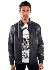 SR280 Mens Barabas Dodge Regular Fit  Grey Jacket