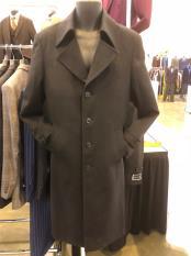JA609 Mens Notch Lapel Single Breasted Dark Brown Suit