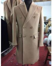 SR294 Mens Big And Tall Wool Overcoat Topcoat Outerwear