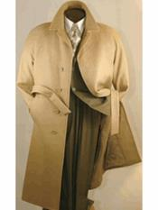 SR296 Mens Big And Tall Wool Overcoat Topcoat Outerwear