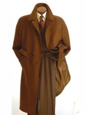 SR297 Mens Big And Tall Wool Overcoat Topcoat Outerwear