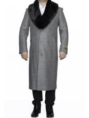SR301 Mens Big And Tall Wool Overcoat Topcoat Outerwear