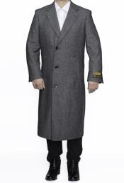 SR306 Big And Tall Wool Overcoat Topcoat Outerwear Coat