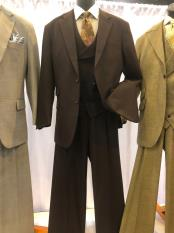 JA614 Mens Single Breasted Notch Lapel Light Brown Suit