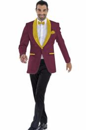 Product#JA617MensBlazer~SuitJacketBurgundy~Gold