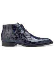mens Blue Three Eyelet Lacing