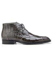 EK302 Mens Gray Lace Up Cap Toe Shoes
