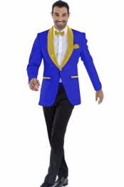 mensBlazer~SuitJacketDarkRoyal~Gold